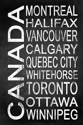 Typography Drawing - Subway Canada 2 by Melissa Smith