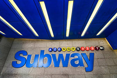 Photograph - Subway Entrance # 2 by Allen Beatty
