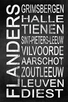 Words Digital Art - Subway Flanders Belgium 4 by Melissa Smith