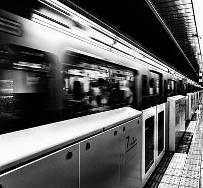 Art Print featuring the photograph Subway by Hayato Matsumoto