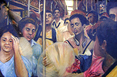 Subway Heat Print by Leonardo Ruggieri