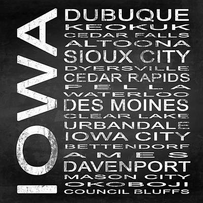Words Digital Art - Subway Iowa State Square by Melissa Smith