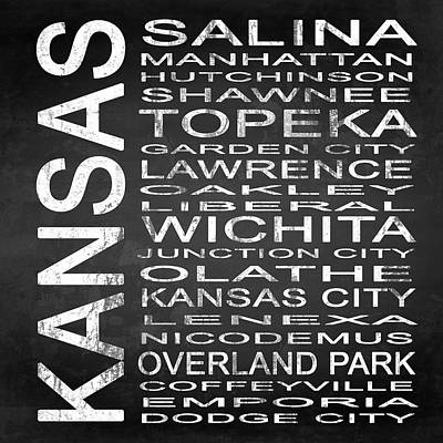 Subway Kansas State Square Art Print by Melissa Smith