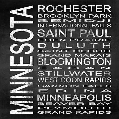 Subway Minnesota State Square Art Print by Melissa Smith