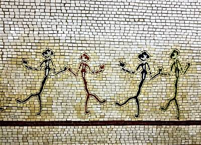 Photograph - Subway Mosaic Egypian Chorus Line by Rob Hans