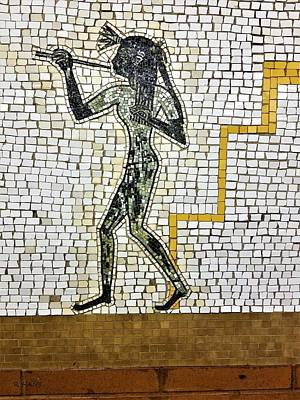 Photograph - Subway Mosaic Egypian Right by Rob Hans
