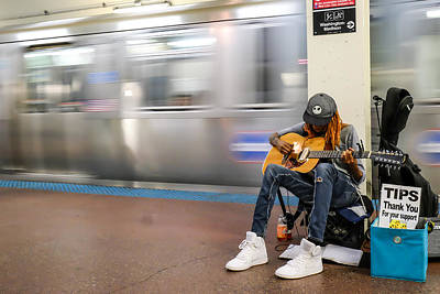 Photograph - Subway Musician 10 by John McArthur