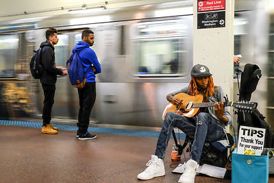 Photograph - Subway Musician 6 by John McArthur
