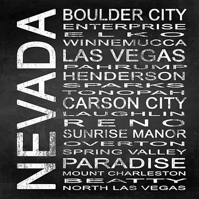 Subway Nevada State Square Art Print