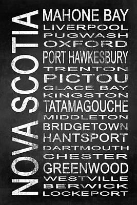 Bridgetown Digital Art - Subway Nova Scotia Canada 2 by Melissa Smith