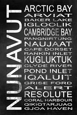 Cambridge Mixed Media - Subway Nunavut Canada 1 by Melissa Smith