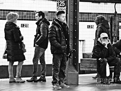 Photograph - Subway Platform At 125th Street by Sarah Loft