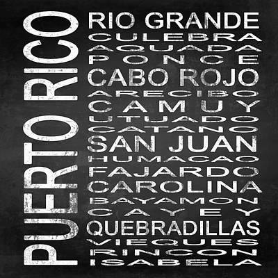 Sign Digital Art - Subway Puerto Rico Square by Melissa Smith