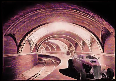 Purple V8 Photograph - Subway Racer by Michael Cleere