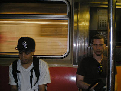 Photograph - Subway Ride Nyc by David Coblitz
