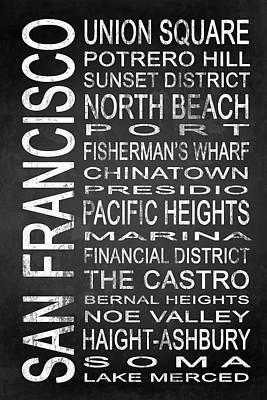 The Castro Digital Art - Subway San Francisco 3 by Melissa Smith
