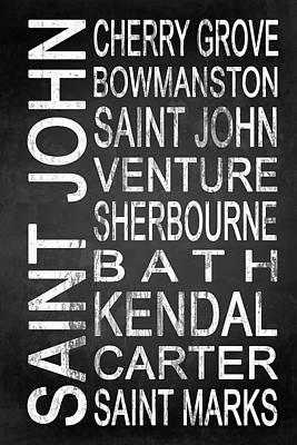 Carter Mixed Media - Subway Saint John Barbados 1 by Melissa Smith