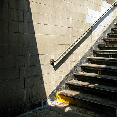 Photograph - Subway Stairs by Frank Winters