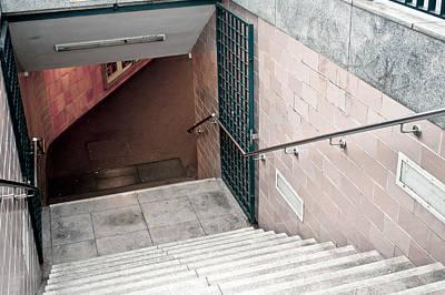 Subway Stairs Art Print by Tom Gowanlock