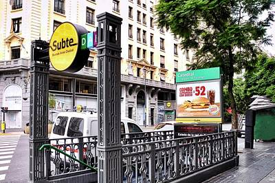 Photograph - Subway Station Entrance In Buenos Aires by Kirsten Giving