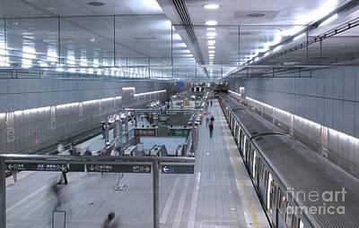 Photograph - Subway Station Interior by Yali Shi