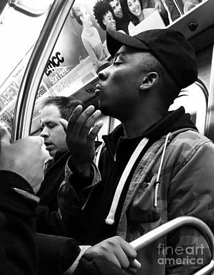 Photograph - Subway Stories by Miriam Danar