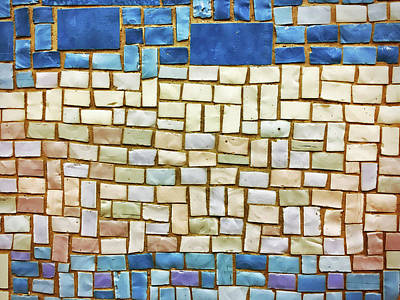 Photograph - Subway Tile No. 43-1 by Sandy Taylor