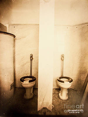 Photograph - Subway Toilet by Cole Thompson