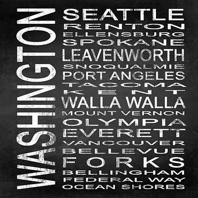 Wa Digital Art - Subway Washington State Square by Melissa Smith