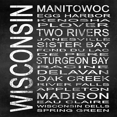 Subway Wisconsin State Square Art Print by Melissa Smith