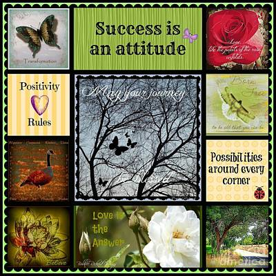 Photograph - Success Is An Attitude Collage by Bobbee Rickard