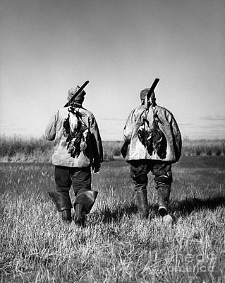 Successful Duck Hunters, 1930s-40s Art Print by H. Armstrong Roberts/ClassicStock