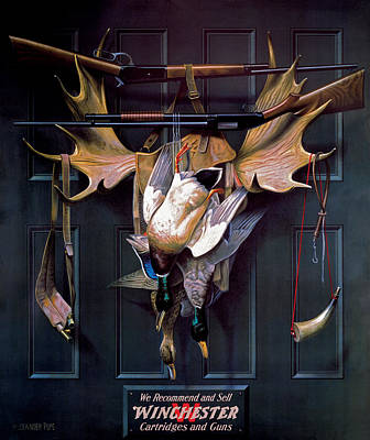 Waterfowl Painting - Successful Hunter  Door Art by Alexander Pope
