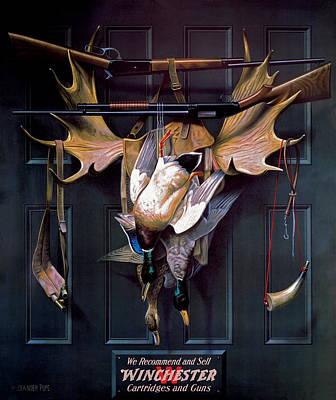 Waterfowl Painting - Successful Hunter  Door Art by Alexander Pope