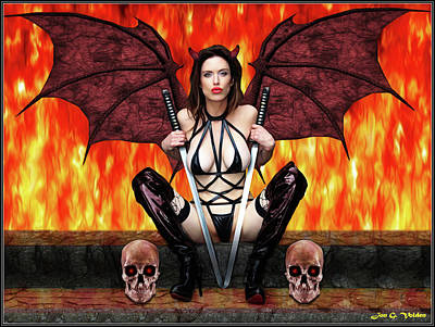 Photograph - Succubus And Flames by Jon Volden