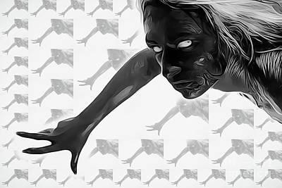 Sensual Digital Art - Succubus by Mary Bassett