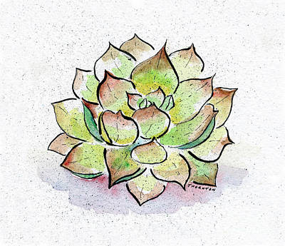 Greens Painting - Succulent by Diane Thornton