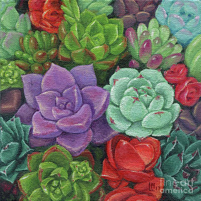 Painting - Succulent Garden by Lisa Norris