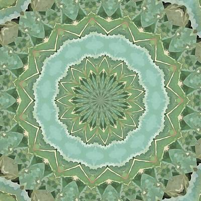 Digital Art - Succulent Mandala by Tracey Harrington-Simpson