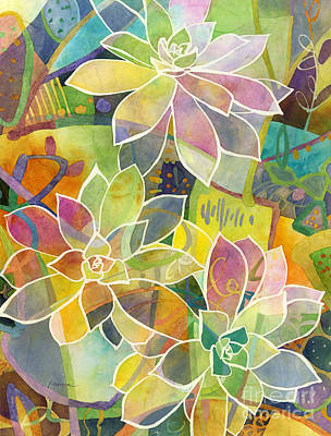 Prickly Pear Painting - Succulent Mirage 1 by Hailey E Herrera
