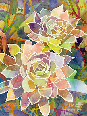 Prickly Pear Painting - Succulent Mirage 2 by Hailey E Herrera