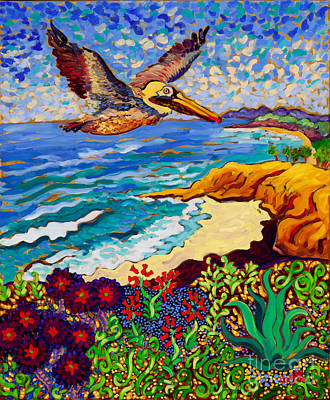 Succulents Painting - Succulent Pelican by Cathy Carey