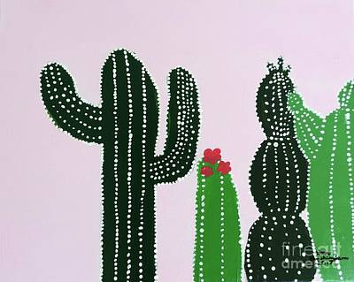 Painting - Succulents by Sean Brushingham