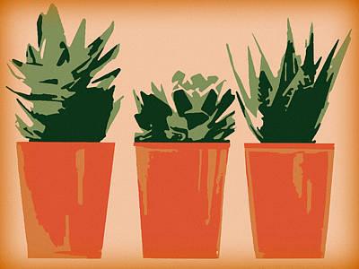 Digital Art - Succulents by Susan Lafleur