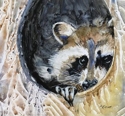 Raccoon Painting - Such A Rascal by Marsha Elliott