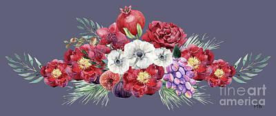 Purple Grapes Digital Art - Such Fruity Beauty by Mary Bellew