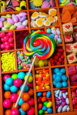 Licorice Photograph - Sucker With Assorment Of Candy by Garry Gay