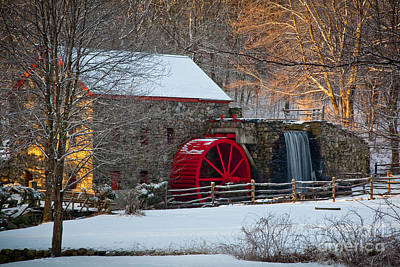 Wayside Photograph - Sudbury Gristmill by Susan Cole Kelly