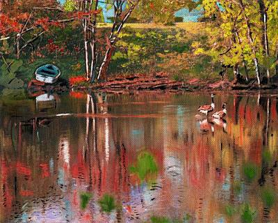 Digital Art - Sudbury River Version 2 by Cliff Wilson