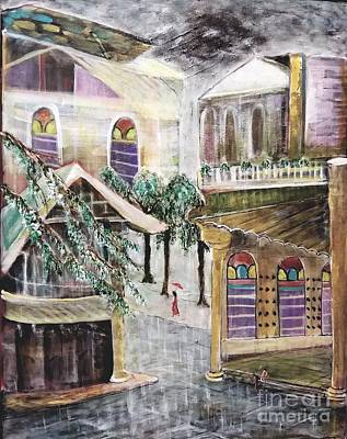 Painting - Sudden Rain by Subrata Bose